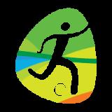 futebol areia emblema